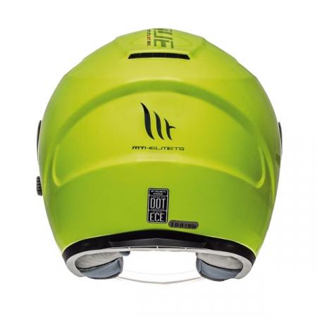 Casca open face motociclete MT Avenue SV galben fluor lucios (ochelari soare integrati) [3]