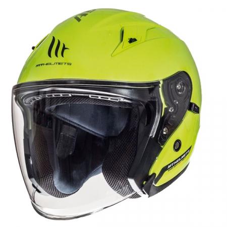 Casca open face motociclete MT Avenue SV galben fluor lucios (ochelari soare integrati) [1]