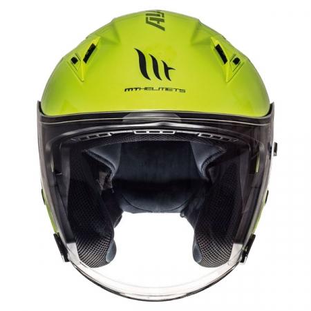 Casca open face motociclete MT Avenue SV galben fluor lucios (ochelari soare integrati) [2]