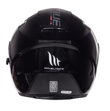 Casca open face motociclete MT Avenue SV negru lucios (ochelari soare integrati) [3]