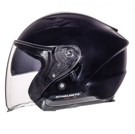 Casca open face motociclete MT Avenue SV negru lucios (ochelari soare integrati) [0]