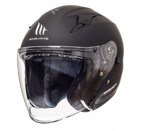 Casca open face motociclete MT Avenue SV negru mat (ochelari soare integrati) [1]