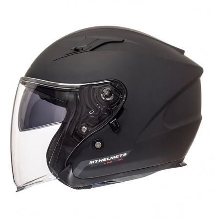 Casca open face motociclete MT Avenue SV negru mat (ochelari soare integrati) [0]