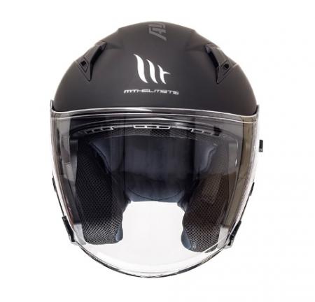 Casca open face motociclete MT Avenue SV negru mat (ochelari soare integrati) [2]