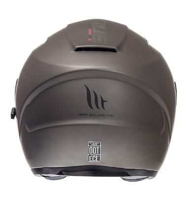 Casca open face motociclete MT Avenue SV titanium mat (ochelari soare integrati) [3]