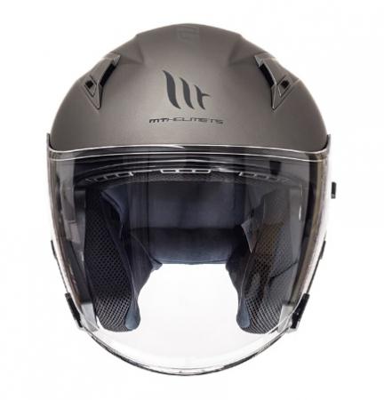 Casca open face motociclete MT Avenue SV titanium mat (ochelari soare integrati) [2]