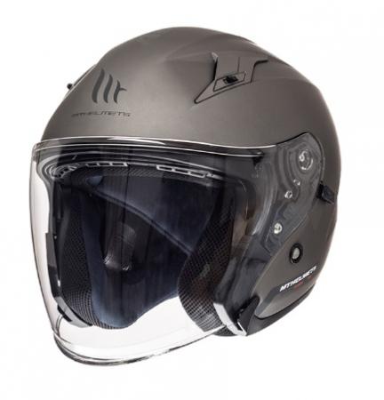 Casca open face motociclete MT Avenue SV titanium mat (ochelari soare integrati) [1]