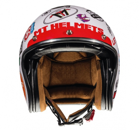 Casca open face motociclete MT Le Mans 2 SV Anarchy A0 alb lucios (ochelari soare integrati) [2]