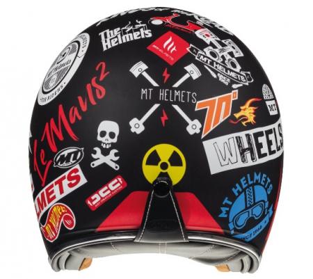 Casca open face motociclete MT Le Mans 2 SV Anarchy A1 negru mat (ochelari soare integrati) [3]
