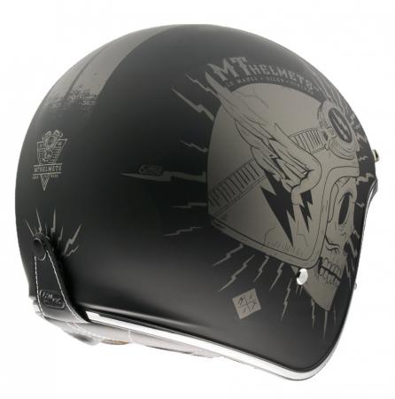 Casca open face motociclete MT Le Mans 2 SV Diler A2 gri mat (ochelari soare integrati) [2]