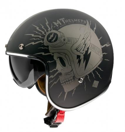 Casca open face motociclete MT Le Mans 2 SV Diler A2 gri mat (ochelari soare integrati) [0]