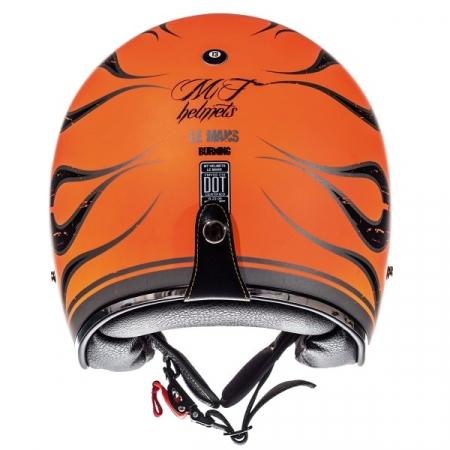 Casca open face motociclete MT Le Mans SV Flaming negru/portocaliu lucios (ochelari soare integrati) [3]