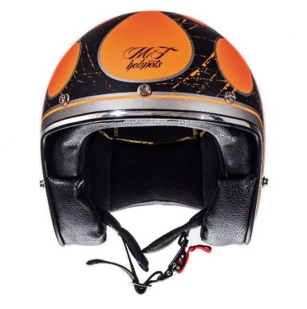 Casca open face motociclete MT Le Mans SV Flaming negru/portocaliu lucios (ochelari soare integrati) [2]