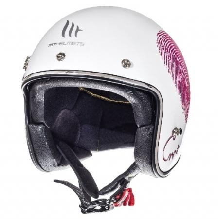 Casca open face motociclete MT Le Mans SV Love alb/rosu/fuchsia lucios (ochelari soare integrati) [1]
