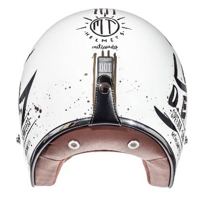 Casca open face motociclete MT Le Mans SV Outlander alb/negru lucios (ochelari soare integrati) [3]