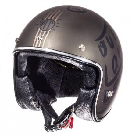 Casca open face motociclete MT Le Mans SV Outlander maro metalic/negru mat (ochelari soare integrati) [1]