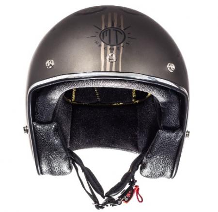 Casca open face motociclete MT Le Mans SV Outlander maro metalic/negru mat (ochelari soare integrati) [2]