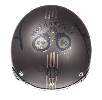 Casca open face motociclete MT Le Mans SV Outlander maro metalic/negru mat (ochelari soare integrati) [4]