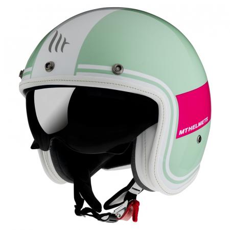 Casca open face motociclete MT Retro Leather Italian Flag [1]