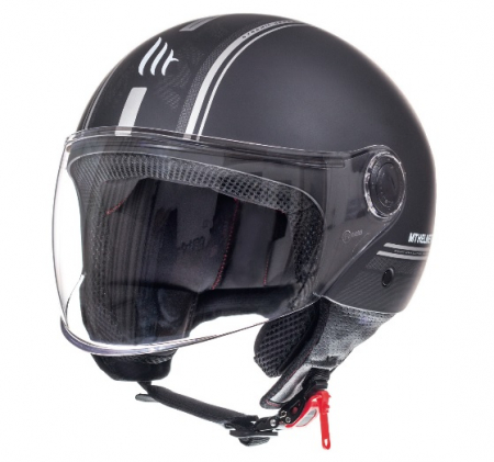 Casca open face motociclete MT Street Entire C9 negru mat [1]