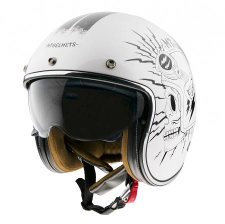 Casca open face MT Le Mans 2 SV Diler B0 alb lucios (ochelari soare integrati) [1]
