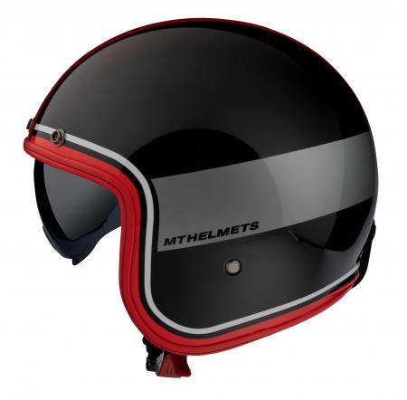 Casca open face MT Le Mans 2 SV Tant A5 negru/rosu lucios (ochelari soare integrati) [0]