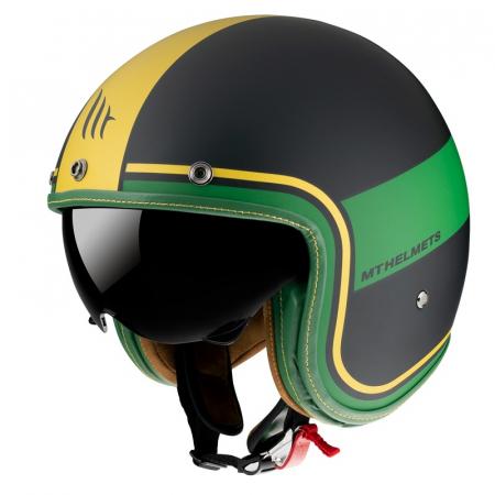Casca open face MT Le Mans 2 SV Tant C9 negru/auriu mat (ochelari soare integrati) [1]