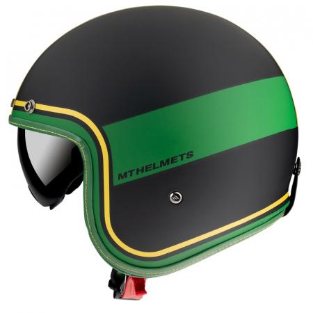 Casca open face MT Le Mans 2 SV Tant C9 negru/auriu mat (ochelari soare integrati) [0]