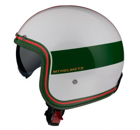 Casca open face MT Le Mans 2 SV Tant D5 alb/rosu/verde lucios (ochelari soare integrati) [0]