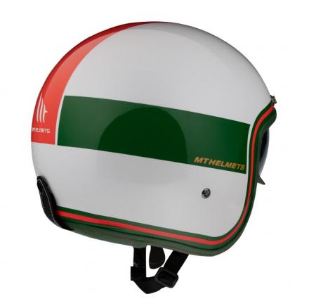 Casca open face MT Le Mans 2 SV Tant D5 alb/rosu/verde lucios (ochelari soare integrati) [2]