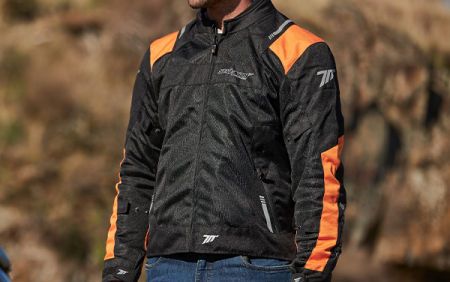 Geaca (jacheta) barbati Racing vara Seventy model SD-JR52 culoare: negru/portocaliu [2]