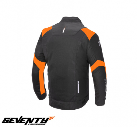 Geaca (jacheta) barbati Racing vara Seventy model SD-JR52 culoare: negru/portocaliu [1]