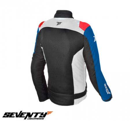 Geaca (jacheta) femei Racing vara Seventy model SD-JR50 culoare: negru/rosu/albastru [1]