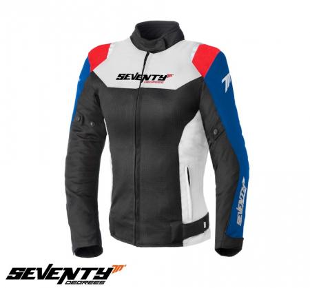 Geaca (jacheta) femei Racing vara Seventy model SD-JR50 culoare: negru/rosu/albastru [0]