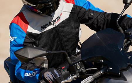 Geaca (jacheta) femei Racing vara Seventy model SD-JR50 culoare: negru/rosu/albastru [4]