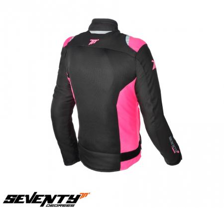 Geaca (jacheta) femei Racing vara Seventy model SD-JR50 culoare: negru/roz [1]