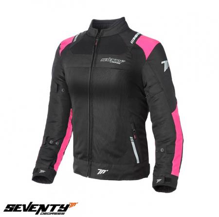 Geaca (jacheta) femei Racing vara Seventy model SD-JR54 culoare: negru/roz [0]