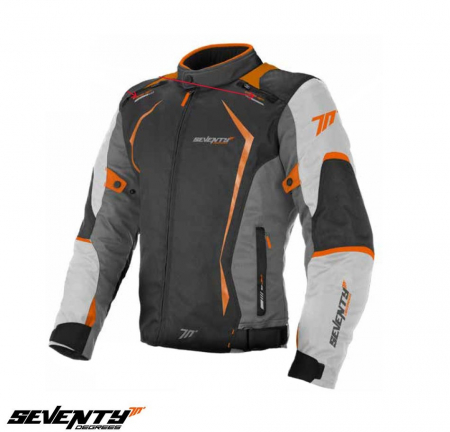 Geaca (jacheta) motociclete barbati Racing Seventy vara/iarna model SD-JR47 culoare: gri/portocaliu [0]