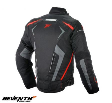 Geaca (jacheta) motociclete barbati Racing Seventy vara/iarna model SD-JR55 culoare: negru/rosu [1]