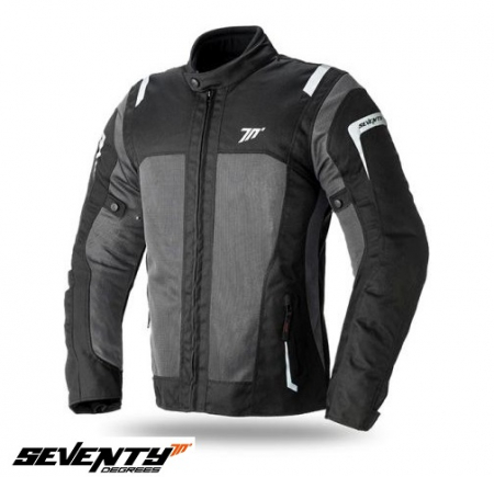 Geaca (jacheta) motociclete barbati Touring Seventy vara model SD-JT44 culoare: negru/gri [0]