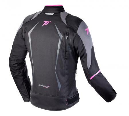 Geaca (jacheta) motociclete femei Racing Seventy vara/iarna model SD-JR49 culoare: negru/roz [1]