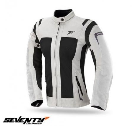 Geaca (jacheta) motociclete femei Touring Seventy vara model SD-JT46 culoare: alb ice/negru [0]