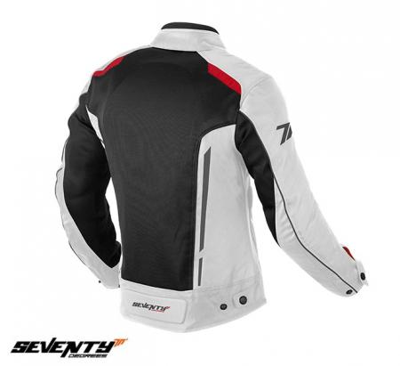 Geaca (jacheta) motociclete femei Touring vara Seventy model SD-JT36 culoare: alb/rosu [1]