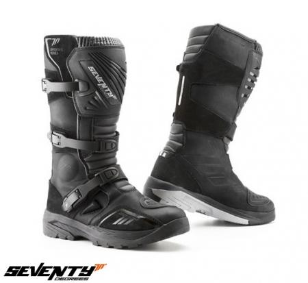 Ghete (cizme) moto Adventure (Touring) Unisex Seventy model SD-BA4 culoare: negru [0]