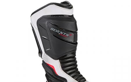 Ghete (cizme) moto Racing Unisex Seventy model SD-BR1 culoare: alb/rosu [3]