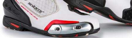 Ghete (cizme) moto Racing Unisex Seventy model SD-BR1 culoare: alb/rosu [2]