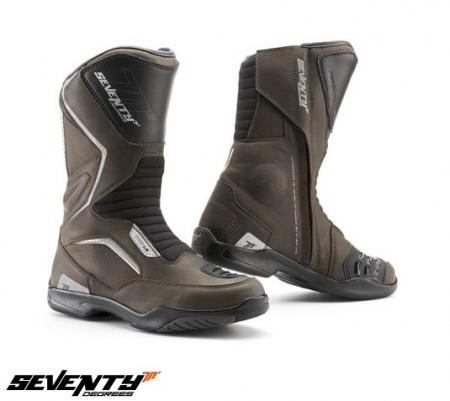Ghete (cizme) moto Touring Unisex Seventy model SD-BT2 culoare: maro [0]