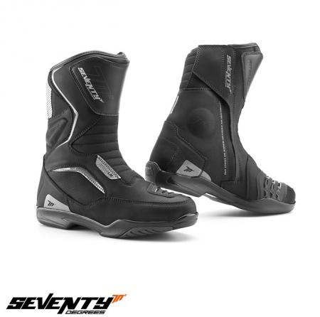 Ghete (cizme) moto Touring Unisex Seventy model SD-BT3 (varianta scurta a ghetelor SD-BT2) culoare: negru [0]