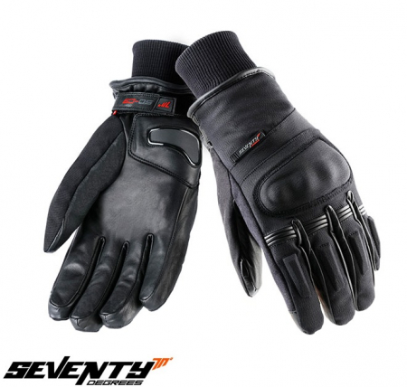 Manusi barbati iarna Seventy model SD-C9 negru – WinterTex – degete tactile [0]