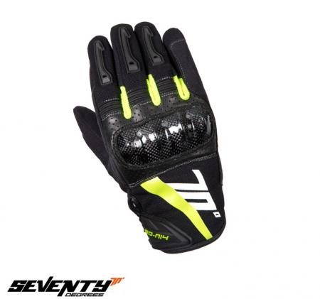 Manusi barbati Racing/Naked vara Seventy model SD-N14 negru/galben – degete tactile [1]